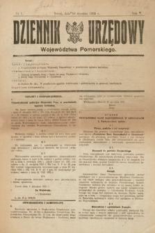 Dziennik Urzędowy Województwa Pomorskiego. 1925, nr1