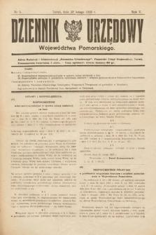 Dziennik Urzędowy Województwa Pomorskiego. 1925, nr5