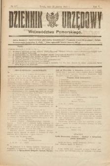 Dziennik Urzędowy Województwa Pomorskiego. 1925, nr6/7