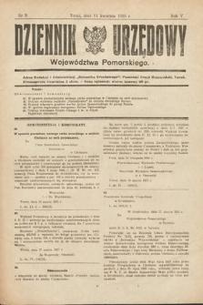 Dziennik Urzędowy Województwa Pomorskiego. 1925, nr9