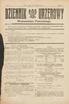 Dziennik Urzędowy Województwa Pomorskiego. 1925, nr10