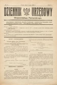 Dziennik Urzędowy Województwa Pomorskiego. 1925, nr11