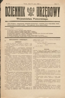 Dziennik Urzędowy Województwa Pomorskiego. 1925, nr13