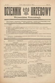 Dziennik Urzędowy Województwa Pomorskiego. 1925, nr14