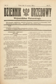 Dziennik Urzędowy Województwa Pomorskiego. 1925, nr15