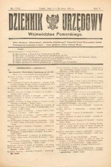 Dziennik Urzędowy Województwa Pomorskiego. 1925, nr17/18