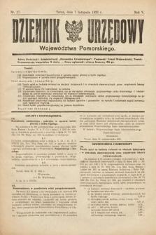 Dziennik Urzędowy Województwa Pomorskiego. 1925, nr27