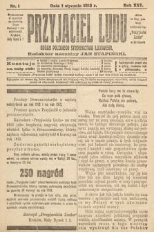 Przyjaciel Ludu : organ Polskiego Stronnictwa Ludowego. 1913 , nr1