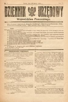 Dziennik Urzędowy Województwa Pomorskiego. 1926, nr7