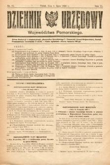 Dziennik Urzędowy Województwa Pomorskiego. 1926, nr21