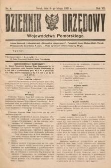Dziennik Urzędowy Województwa Pomorskiego. 1927, nr4