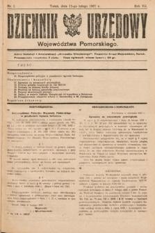 Dziennik Urzędowy Województwa Pomorskiego. 1927, nr5