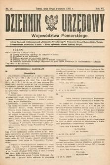 Dziennik Urzędowy Województwa Pomorskiego. 1927, nr14