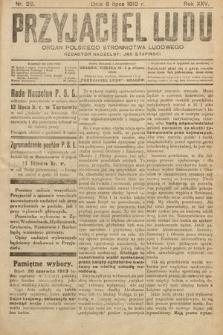 Przyjaciel Ludu : organ Polskiego Stronnictwa Ludowego. 1913 , nr28