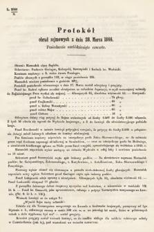 [Kadencja I, sesja III, pos.64] Protokoły z 3. Sesyi I. Peryodu Sejmu Krajowego Królestwa Galicyi i Lodomeryi wraz z Wielkiem Księstwem Krakowskiem z roku 1865/6. Protokół64