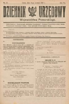Dziennik Urzędowy Województwa Pomorskiego. 1927, nr20