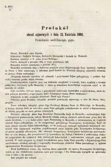 [Kadencja I, sesja III, pos.65] Protokoły z 3. Sesyi I. Peryodu Sejmu Krajowego Królestwa Galicyi i Lodomeryi wraz z Wielkiem Księstwem Krakowskiem z roku 1865/6. Protokół65