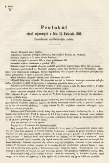 [Kadencja I, sesja III, pos.66] Protokoły z 3. Sesyi I. Peryodu Sejmu Krajowego Królestwa Galicyi i Lodomeryi wraz z Wielkiem Księstwem Krakowskiem z roku 1865/6. Protokół66