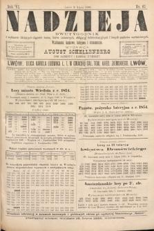 Nadzieja : dwutygodnik zwykazem bieżących ciągnień losów, listów zastawnych, obligacyj indemnizacyjnych innych papierów wartościowych : wiadomości bankowe, kolejowe, ekonomiczne. 1888, nr67