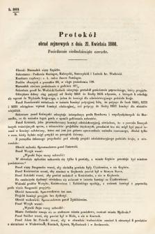 [Kadencja I, sesja III, pos.74] Protokoły z 3. Sesyi I. Peryodu Sejmu Krajowego Królestwa Galicyi i Lodomeryi wraz z Wielkiem Księstwem Krakowskiem z roku 1865/6. Protokół74