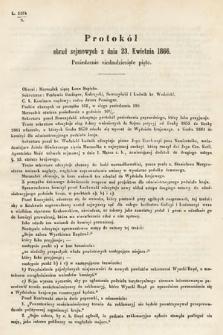 [Kadencja I, sesja III, pos.75] Protokoły z 3. Sesyi I. Peryodu Sejmu Krajowego Królestwa Galicyi i Lodomeryi wraz z Wielkiem Księstwem Krakowskiem z roku 1865/6. Protokół75