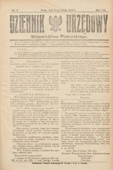Dziennik Urzędowy Województwa Pomorskiego. 1928, nr4