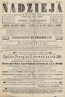 Nadzieja : dwutygodnik zwykazem bieżących ciągnień losów, listów zastawnych, obligacyj indemnizacyjnych innych papierów wartościowych : wiadomości bankowe, kolejowe, ekonomiczne. 1890, nr103