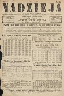 Nadzieja : dwutygodnik zwykazem bieżących ciągnień losów, listów zastawnych, obligacyj indemnizacyjnych innych papierów wartościowych : wiadomości bankowe, kolejowe, ekonomiczne. 1890, nr105