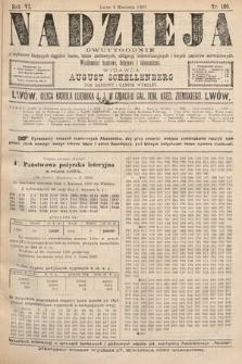 Nadzieja : dwutygodnik zwykazem bieżących ciągnień losów, listów zastawnych, obligacyj indemnizacyjnych innych papierów wartościowych : wiadomości bankowe, kolejowe, ekonomiczne. 1890, nr109