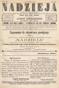 Nadzieja : dwutygodnik zwykazem bieżących ciągnień losów, listów zastawnych, obligacyj indemnizacyjnych innych papierów wartościowych : wiadomości bankowe, kolejowe, ekonomiczne. 1890, nr113