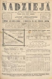 Nadzieja : dwutygodnik zwykazem bieżących ciągnień losów, listów zastawnych, obligacyj indemnizacyjnych innych papierów wartościowych : wiadomości bankowe, kolejowe, ekonomiczne. 1890, nr114