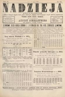 Nadzieja : dwutygodnik zwykazem bieżących ciągnień losów, listów zastawnych, obligacyj indemnizacyjnych innych papierów wartościowych : wiadomości bankowe, kolejowe, ekonomiczne. 1890, nr115