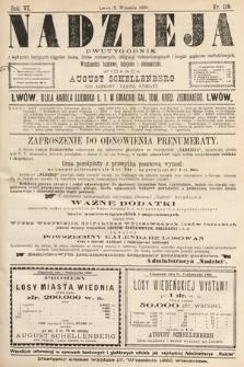 Nadzieja : dwutygodnik zwykazem bieżących ciągnień losów, listów zastawnych, obligacyj indemnizacyjnych innych papierów wartościowych : wiadomości bankowe, kolejowe, ekonomiczne. 1890, nr119