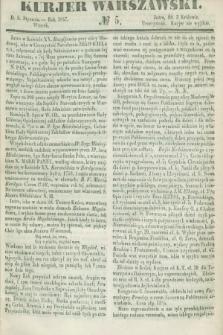 Kurjer Warszawski. 1847, № 5 (5 stycznia)