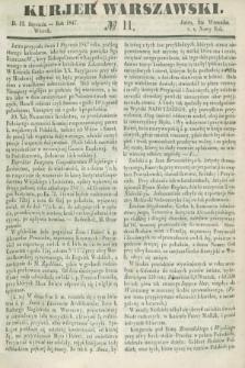 Kurjer Warszawski. 1847, № 11 (12 stycznia)