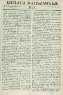 Kurjer Warszawski. 1847, № 19 (20 stycznia)