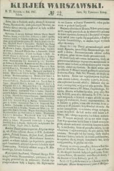 Kurjer Warszawski. 1847, № 22 (23 stycznia)