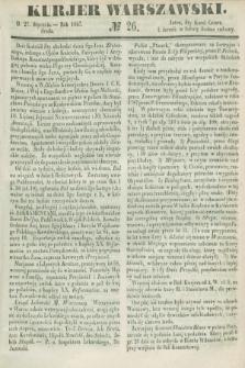 Kurjer Warszawski. 1847, № 26 (27 stycznia)