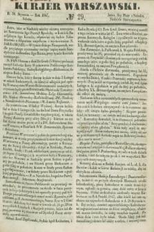 Kurjer Warszawski. 1847, № 29 (30 stycznia)
