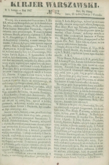 Kurjer Warszawski. 1847, № 32 (3 lutego)