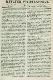 Kurjer Warszawski. 1847, № 33 (4 lutego)