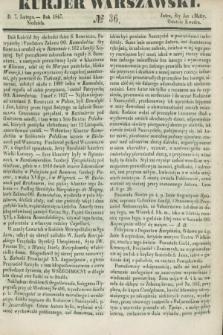 Kurjer Warszawski. 1847, № 36 (7 lutego)