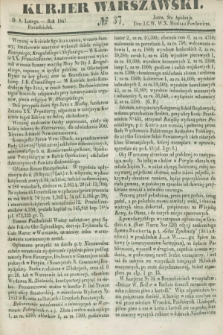 Kurjer Warszawski. 1847, № 37 (8 lutego)