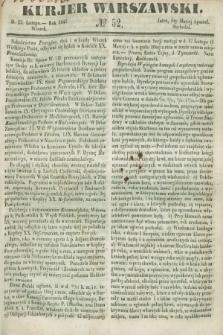 Kurjer Warszawski. 1847, № 52 (23 lutego)