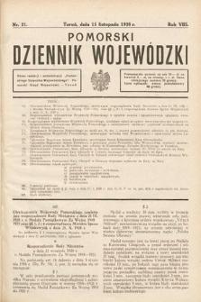 Pomorski Dziennik Wojewódzki. 1928, nr21