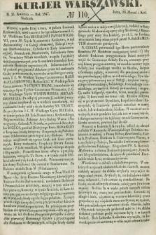 Kurjer Warszawski. 1847, № 110 (25 kwietnia)