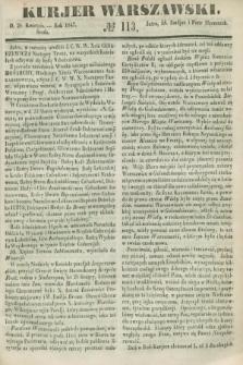 Kurjer Warszawski. 1847, № 113 (28 kwietnia)