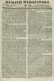 Kurjer Warszawski. 1847, № 143 (31 maja)