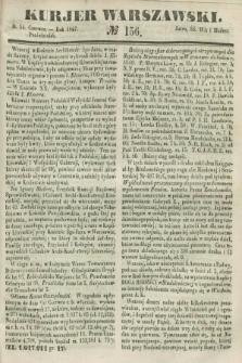 Kurjer Warszawski. 1847, № 156 (14 czerwca)