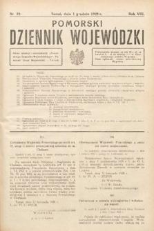 Pomorski Dziennik Wojewódzki. 1928, nr22